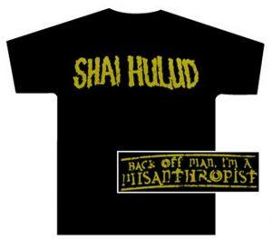 Misanthropist Gold Print Black T-Shirt - $12