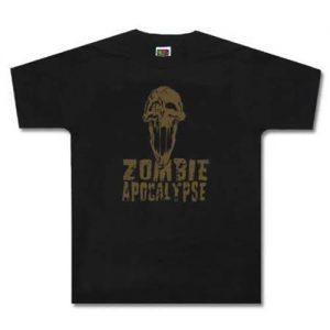 Zombie Apocalypse Skull T-Shirt - $12